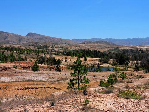 park landscape blue wells