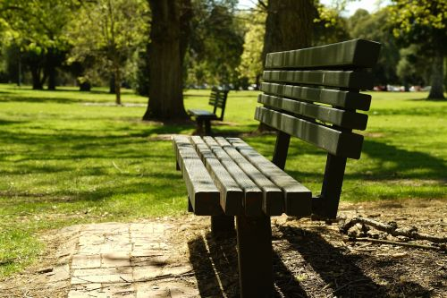 park bench relax