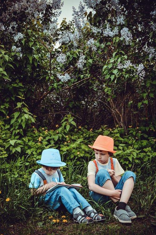 park  garden  kids