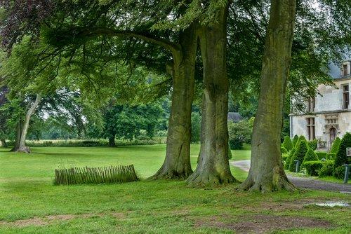 park  castle gromesnil  france