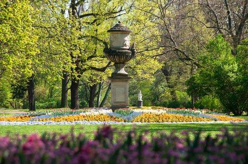 park  stone statue  statue