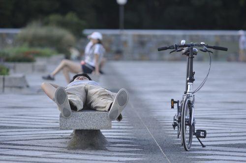 park take a nap bike