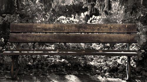 park bench rest break