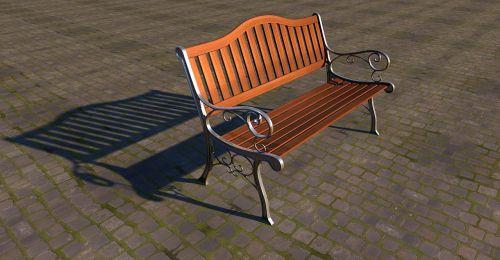 parko suoliukas,stendas,mediena,bankas,atsigavimas,sėdėti,poilsis,poilsio vieta,sodo stendas,sėdynė,medinis stendas,pertrauka,po darbo,verschnörkelt,idiliškas,3d modelis