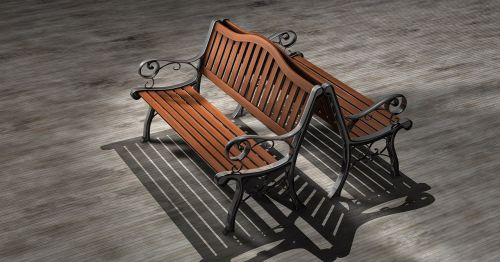 park bench bench wood