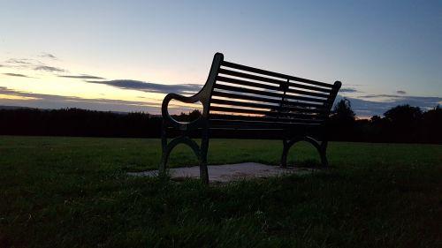 parko suoliukas,saulėlydis,kraštovaizdis,siluetas