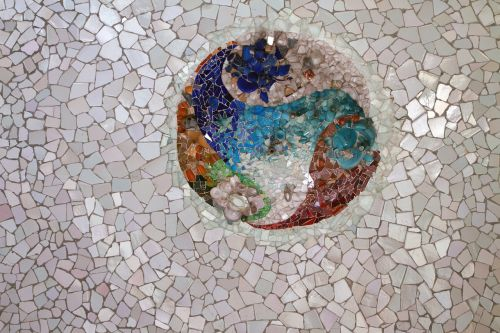park guell mosaic tile