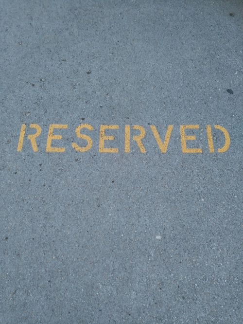 parking reserved road