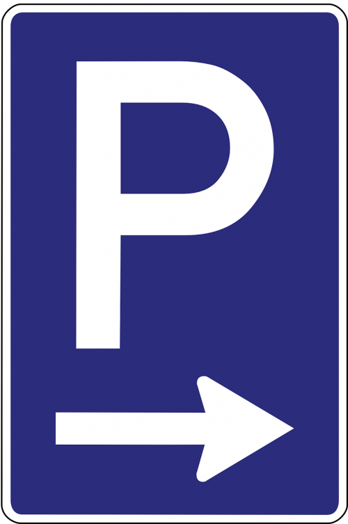 parking lot parking road sign