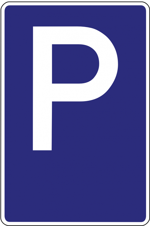 parking lot parking space road sign