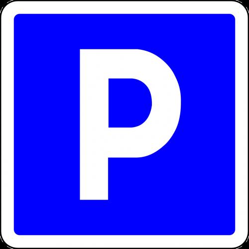 parking place parking blue