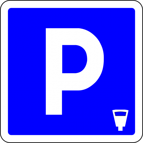 parking place parking blue