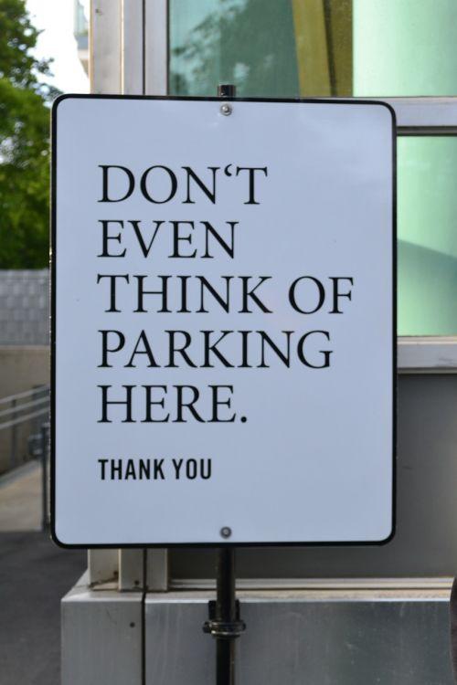 parking sign parking forbidden