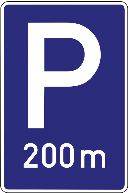 parking space road sign parking lot