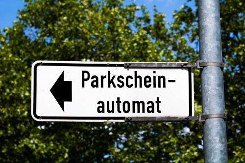 parking ticket park ticket vending machine park