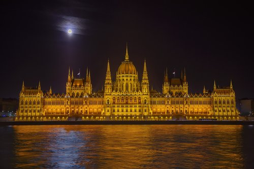 parliament  danube  capital