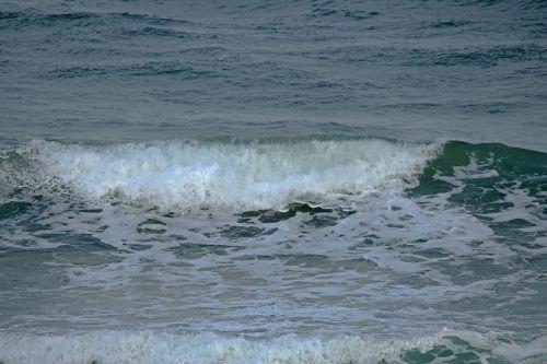 Part Of Wave Breaking In The Ocean