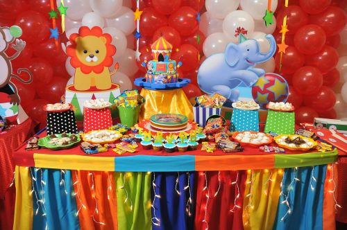 party balloons colorful