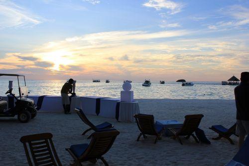 party sunset maldives
