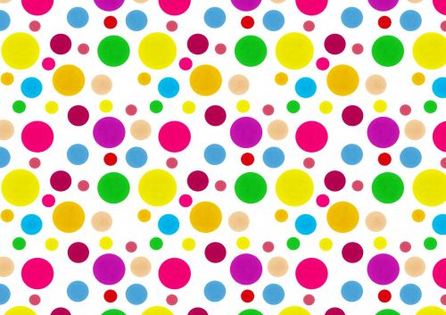 Party Spots Rainbow Color Backing