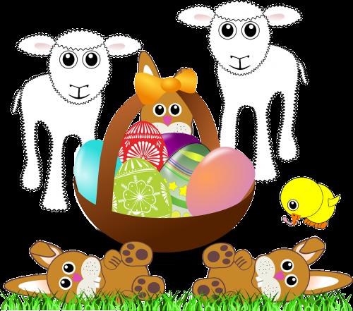 paschal lamb lamps bunnies