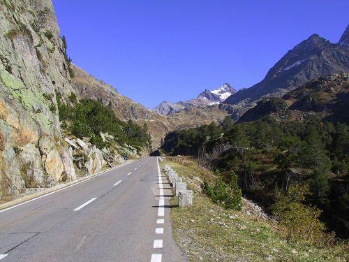 pass road alpine mountain pass