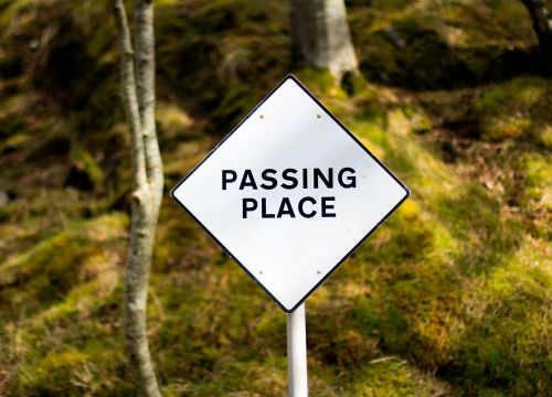 passing place sign place