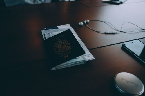 passport travel trip