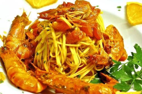 pasta gambas noodles