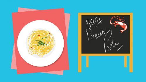 pasta prawn pasta food