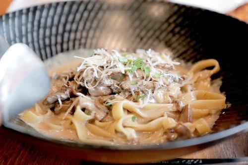 pasta  creampasta  mushroom pasta