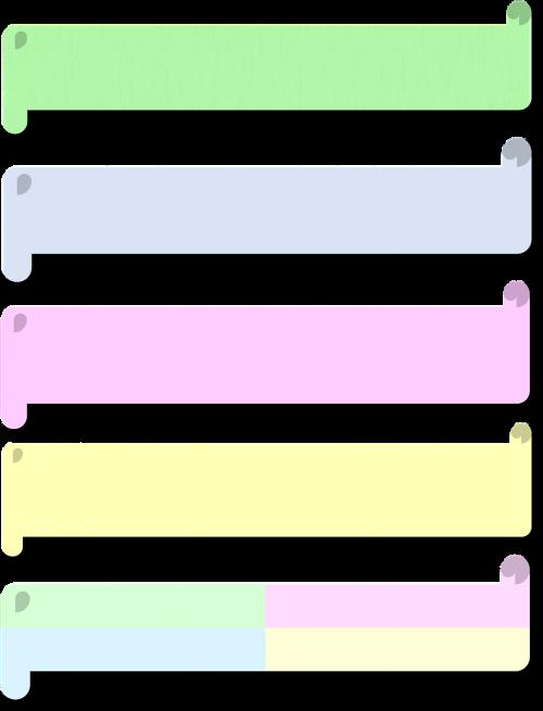 pastel 3d scrolls