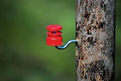 pasture fence post insulator
