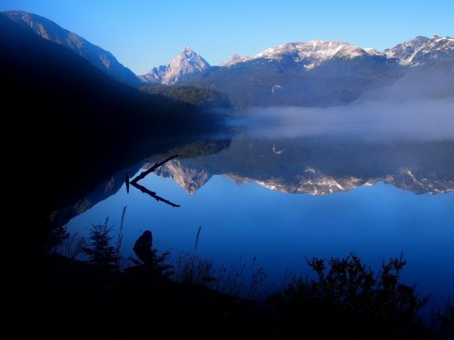 patagonia mountains reflections