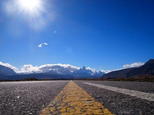 patagonia road mountains