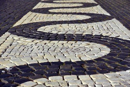 patch  paving stones  cobblestones