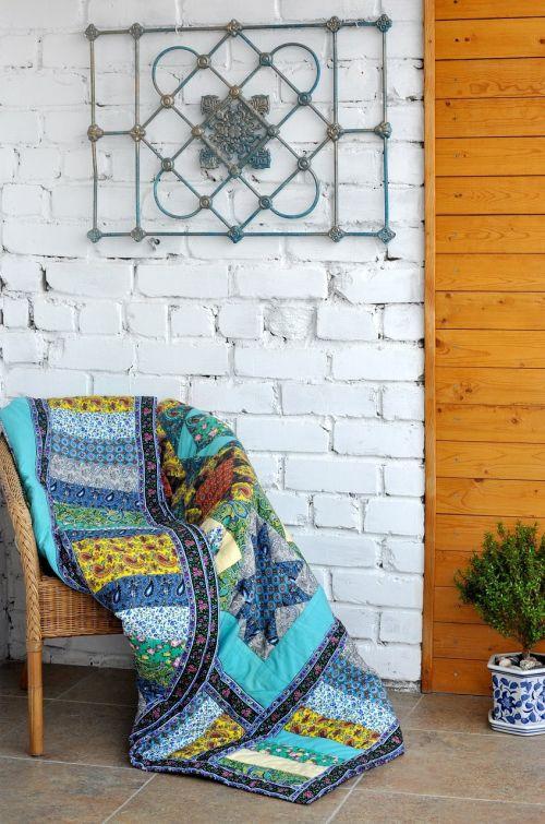 patchwork quilt loggia