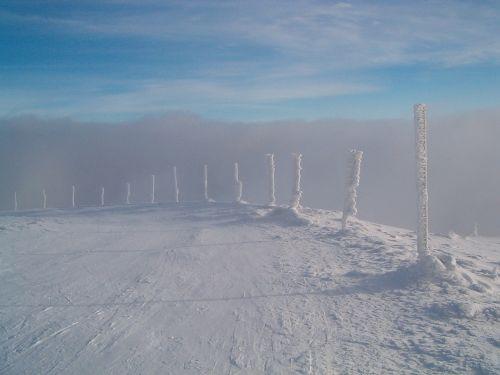 kelias,sniegas,senelis,jeseníky kalnai,kalnai,žiema,gamta,kraštovaizdis,šaltis,dangus,slidinėjimas,takas,kalnas,Žiemos sportas,ledinis,sušaldyta,kelias