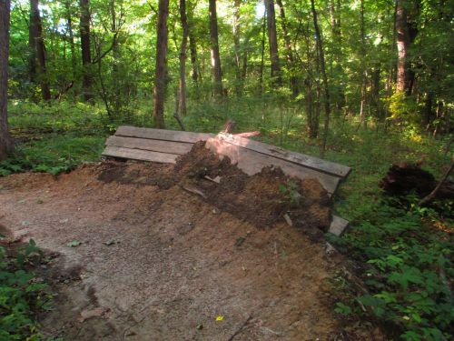 path wooden construction forest fixture