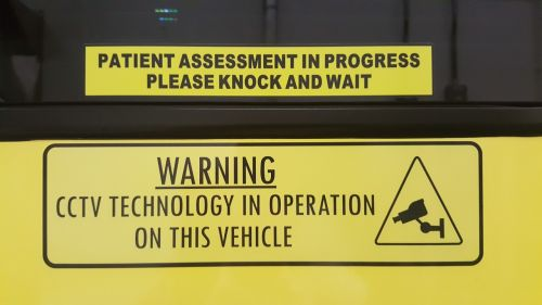 patient assessment compartment cctv in use ambulance