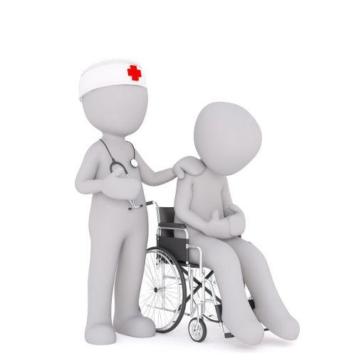 patient care white male 3d model