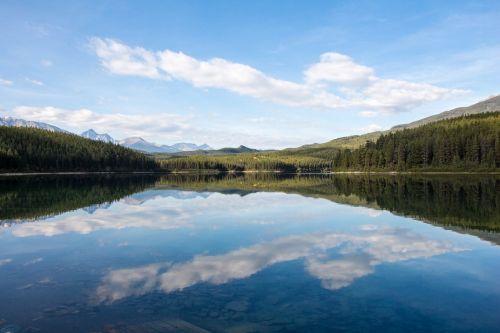 patricia lake reflection canada