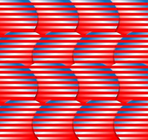patriotic red white