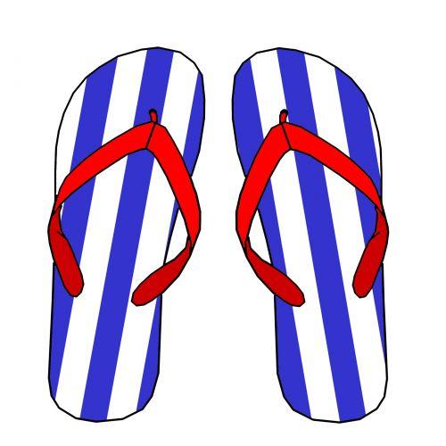 patriotinis, raudona, mėlynas, juostelės, modelis, vasara, apversti, flops, sandalai, papludimys, avalynė, clip & nbsp, menas, iškarpų albumas, patriotinis flip flops