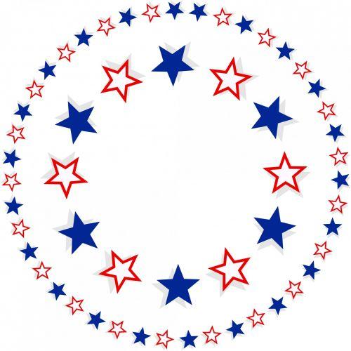 Patriotic Star Border