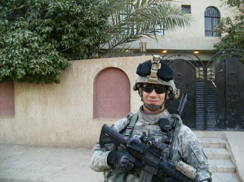 patrol soldier armed