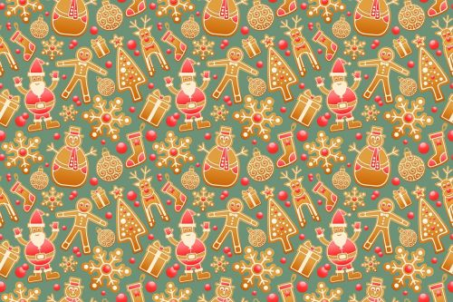pattern seamless gingerbread