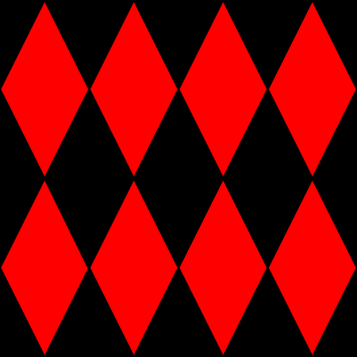 pattern harlequin red