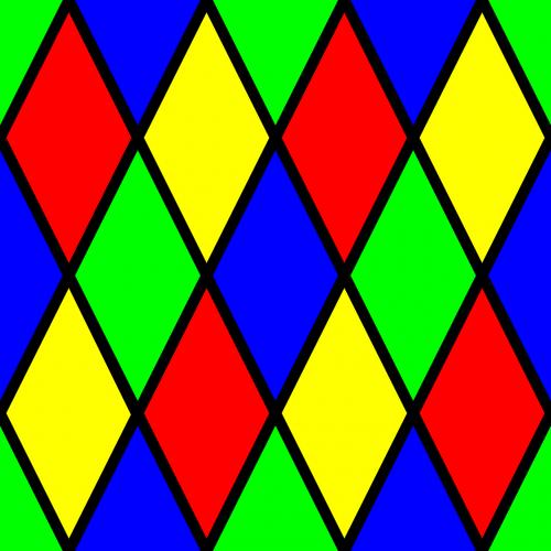 pattern harlequin diamond