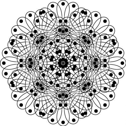 pattern black and white flower